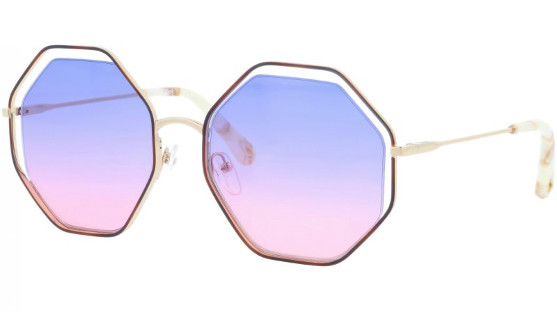 CHLOE CE132S 870 58 Havana Purple Octagonal Sunglasses