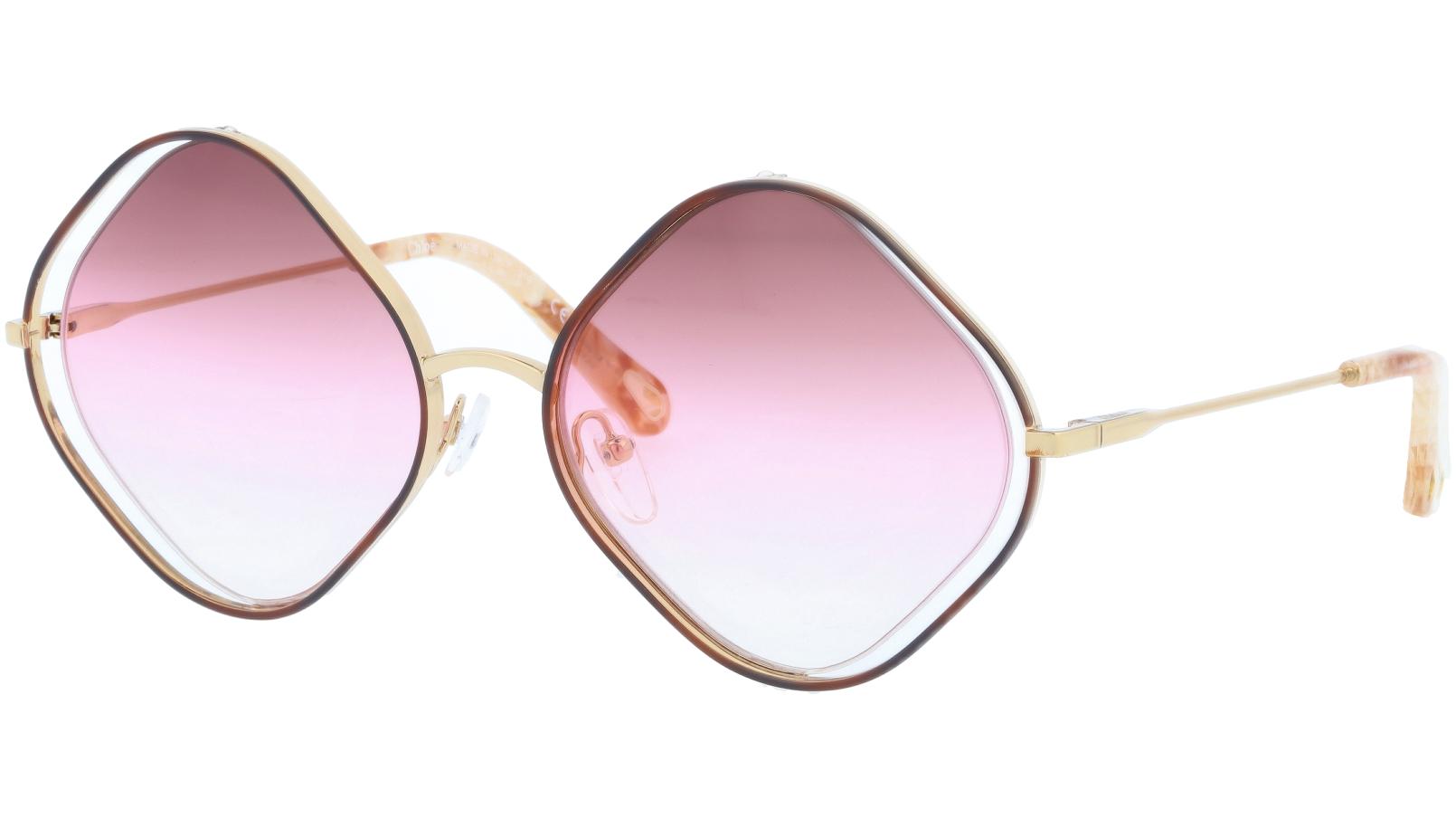 Chloé CE159S 865 57 Havana Geometric Sunglasses
