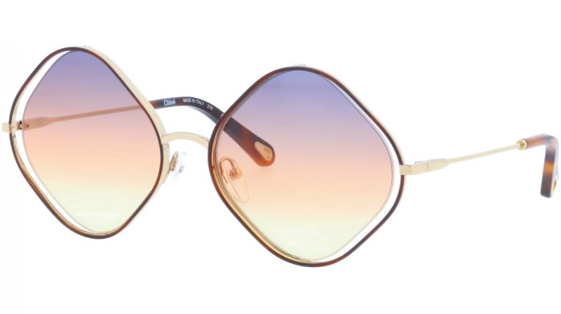 CHLOE CE159S 259 57 Havana Geometric Sunglasses