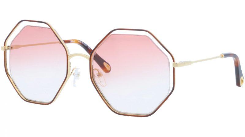 Chloé CE132S 211 58 Havana Pink Octagonal Sunglasses