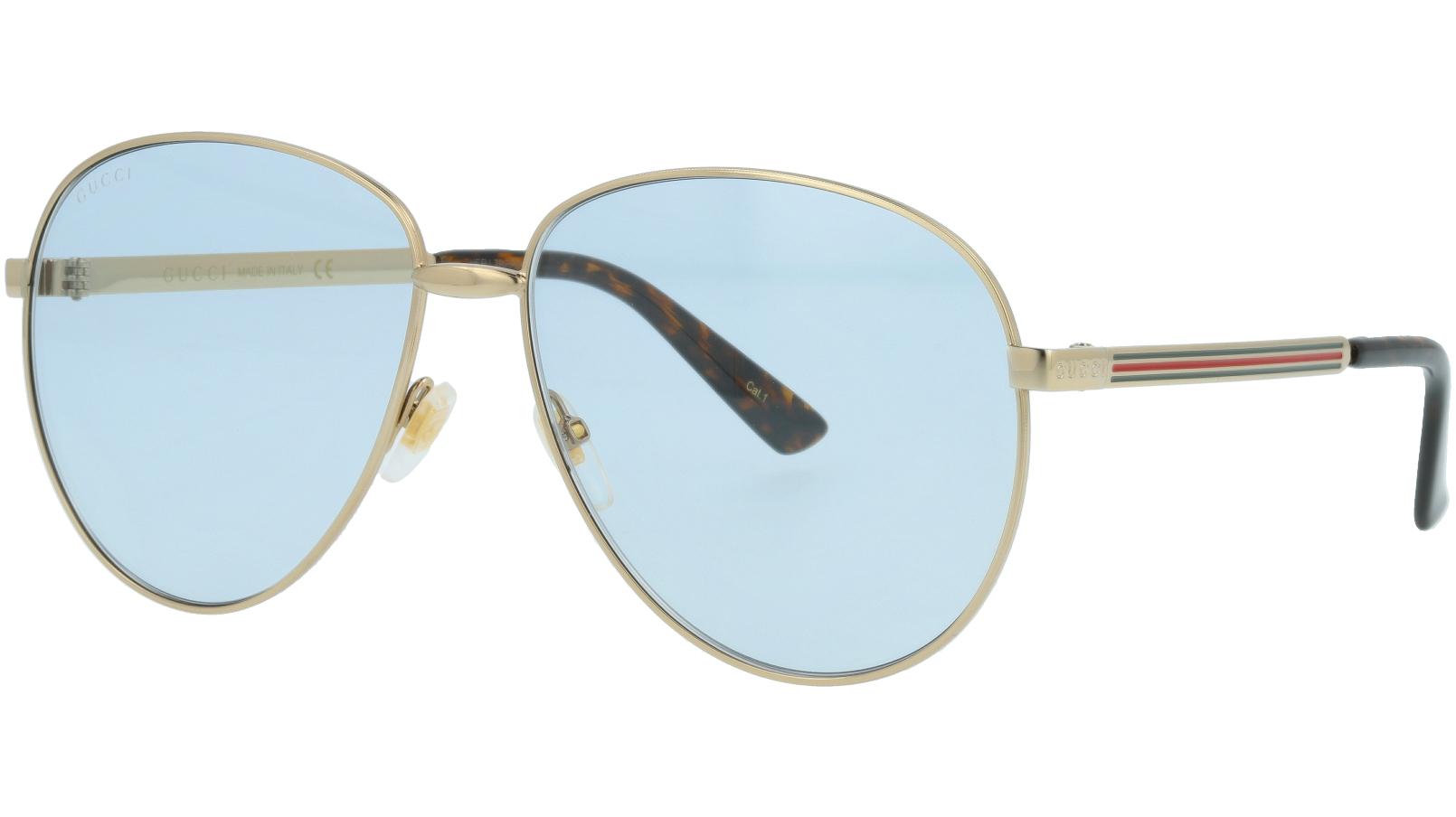 GUCCI GG0138S 004 61 GOLD Sunglasses