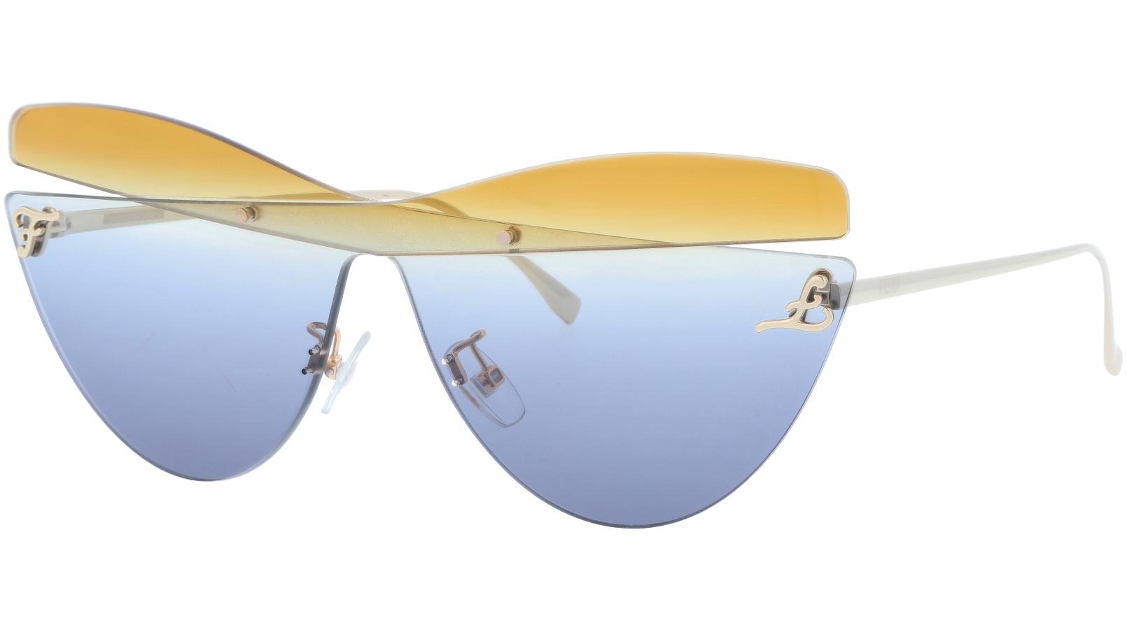 FENDI FF0400/S XYO90 99 Grey Rimless Cat-Eye Sunglasses