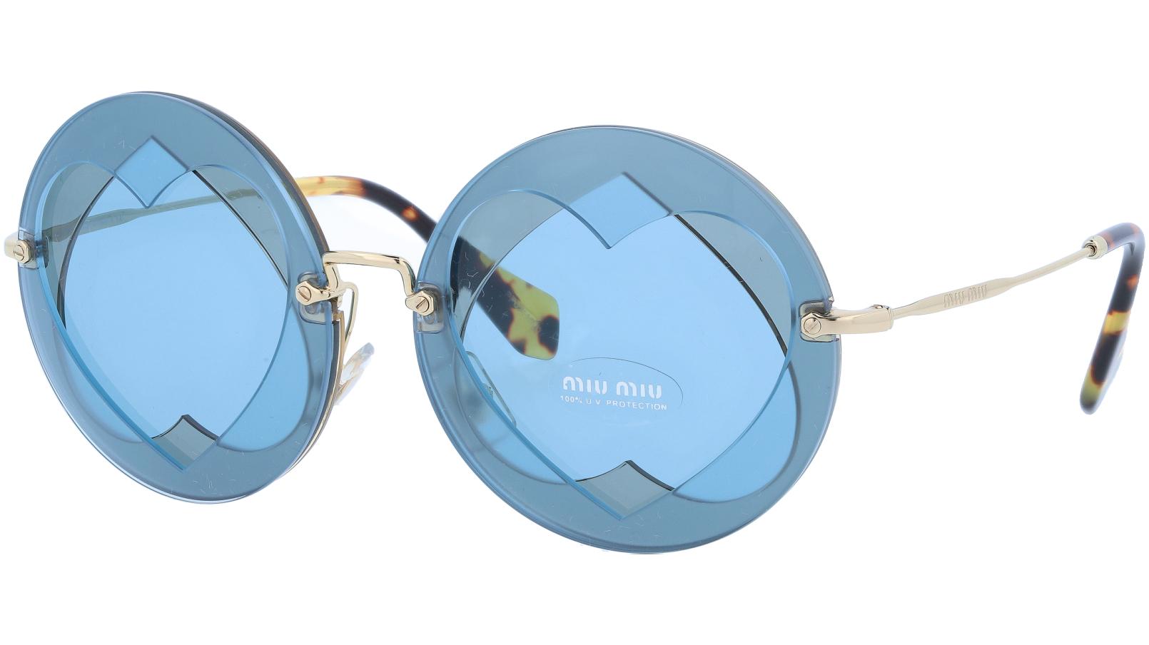 MIU MIU MU01SS VA06P2 62 Blue Round Sunglasses