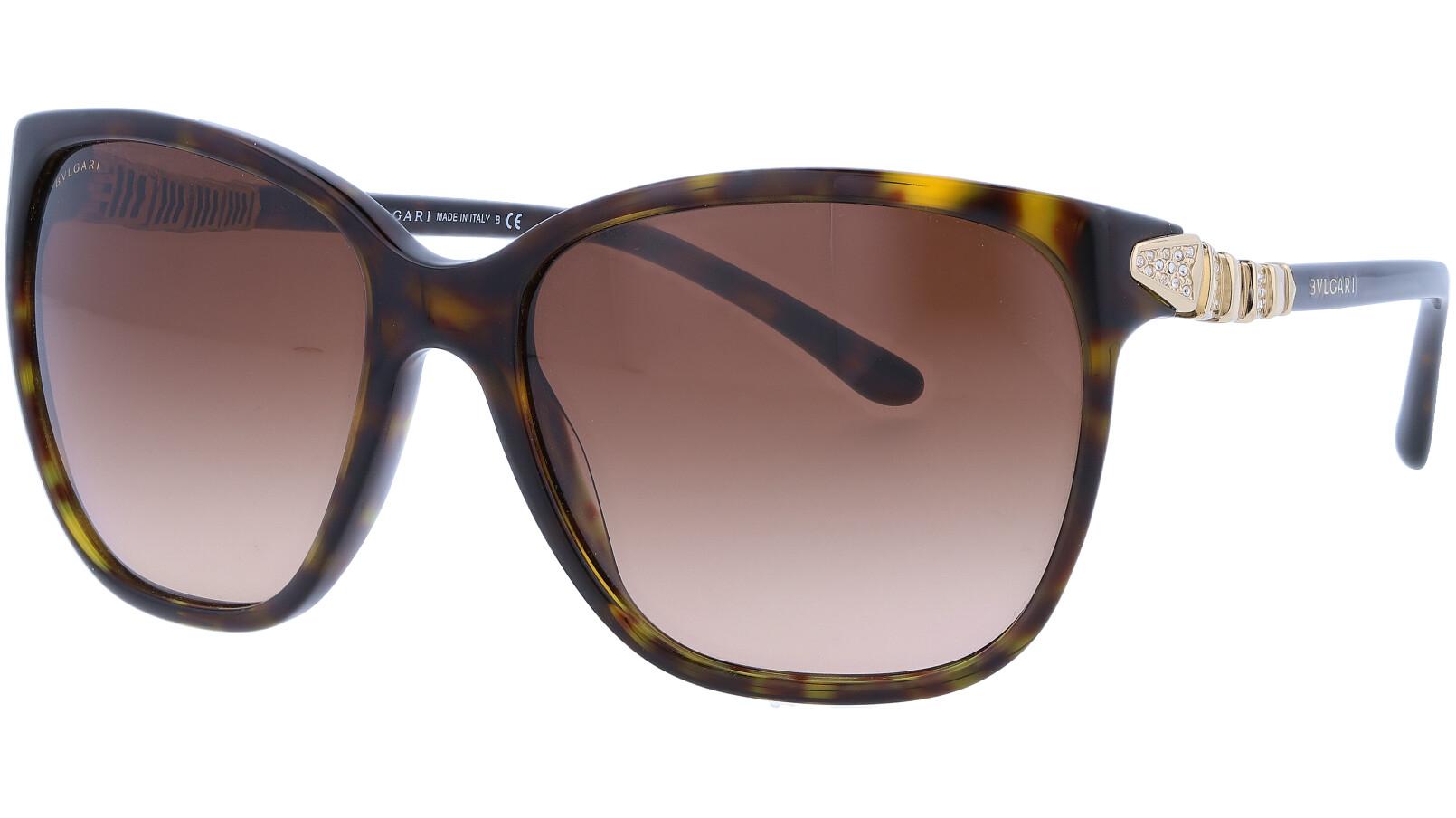 BVLGARI BV8136B 50413 57 HAVANA Sunglasses