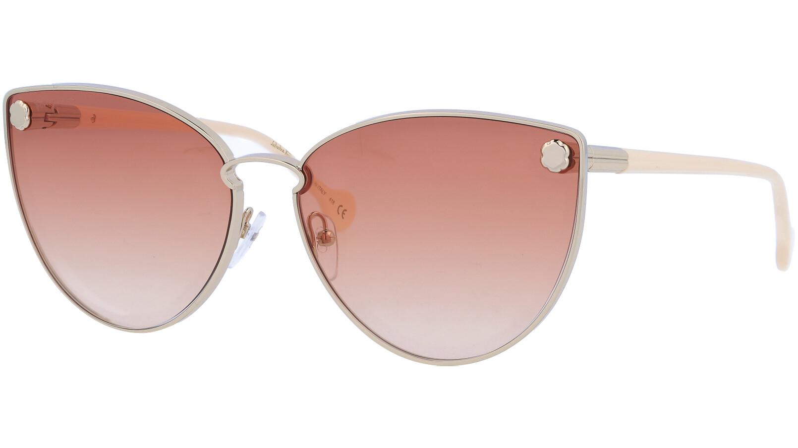SALVATORE FERRAGAMO SF185S 710 64 GOLD Sunglasses