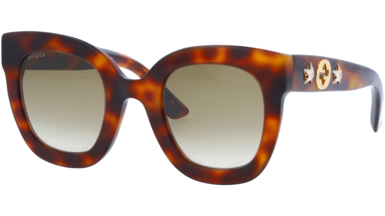 GUCCI GG0208S 003 49 AVANA Sunglasses