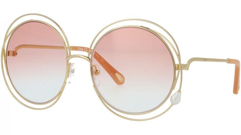 Chloé CE114SPRL PEARL 862 58 Gold Round Carlina Sunglasses