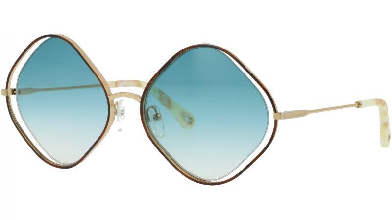 Chloé CE159S 863 57 Havana Geometric Sunglasses