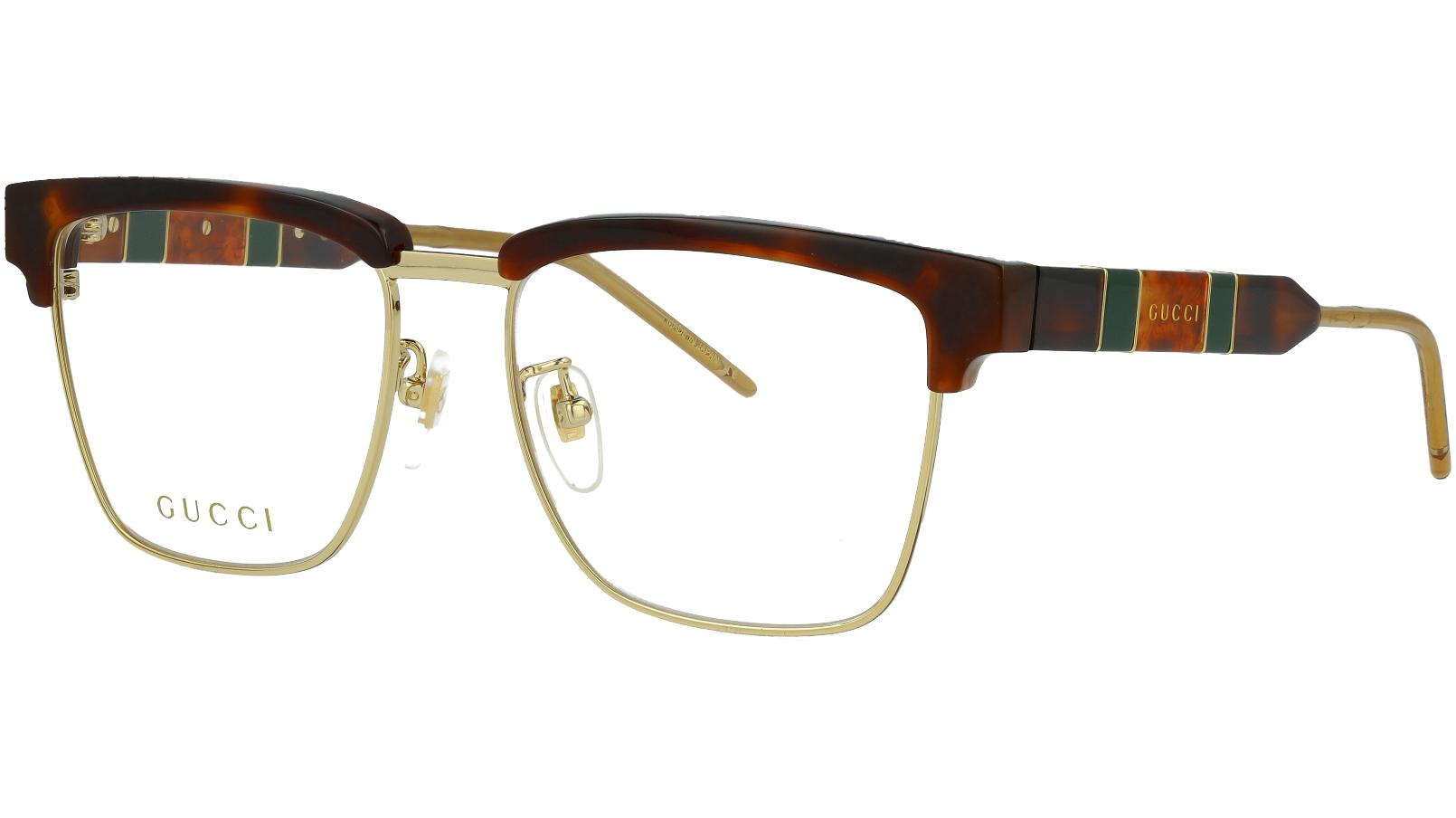 Gucci GG0605O 005 52 Havana Square Glasses