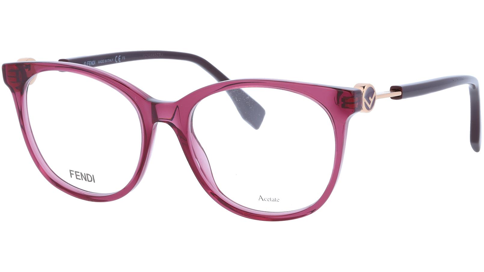 FENDI FF0393 0T7 52 PLUM Glasses