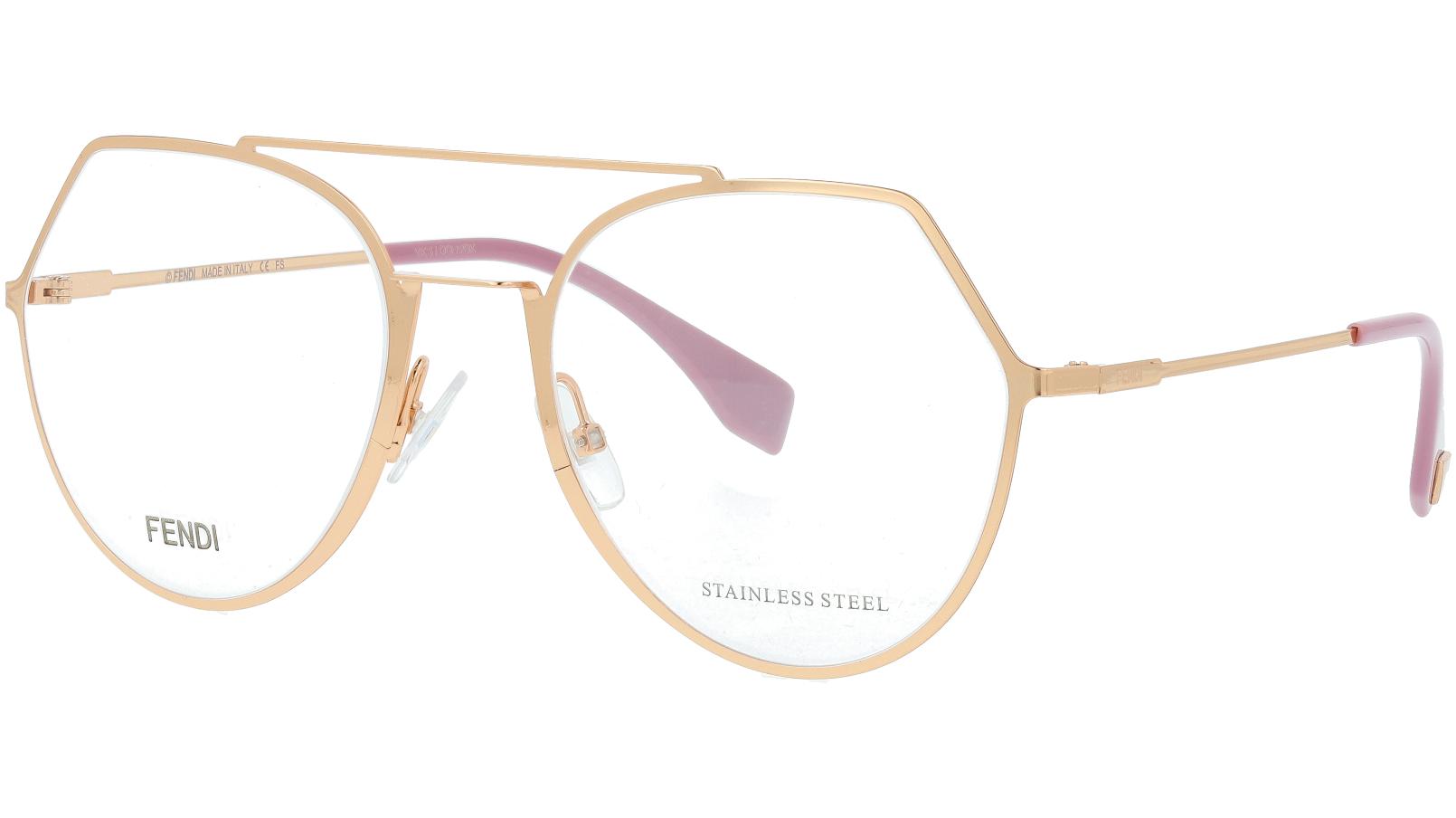 FENDI FF0329 DDB 53 GOLD Glasses