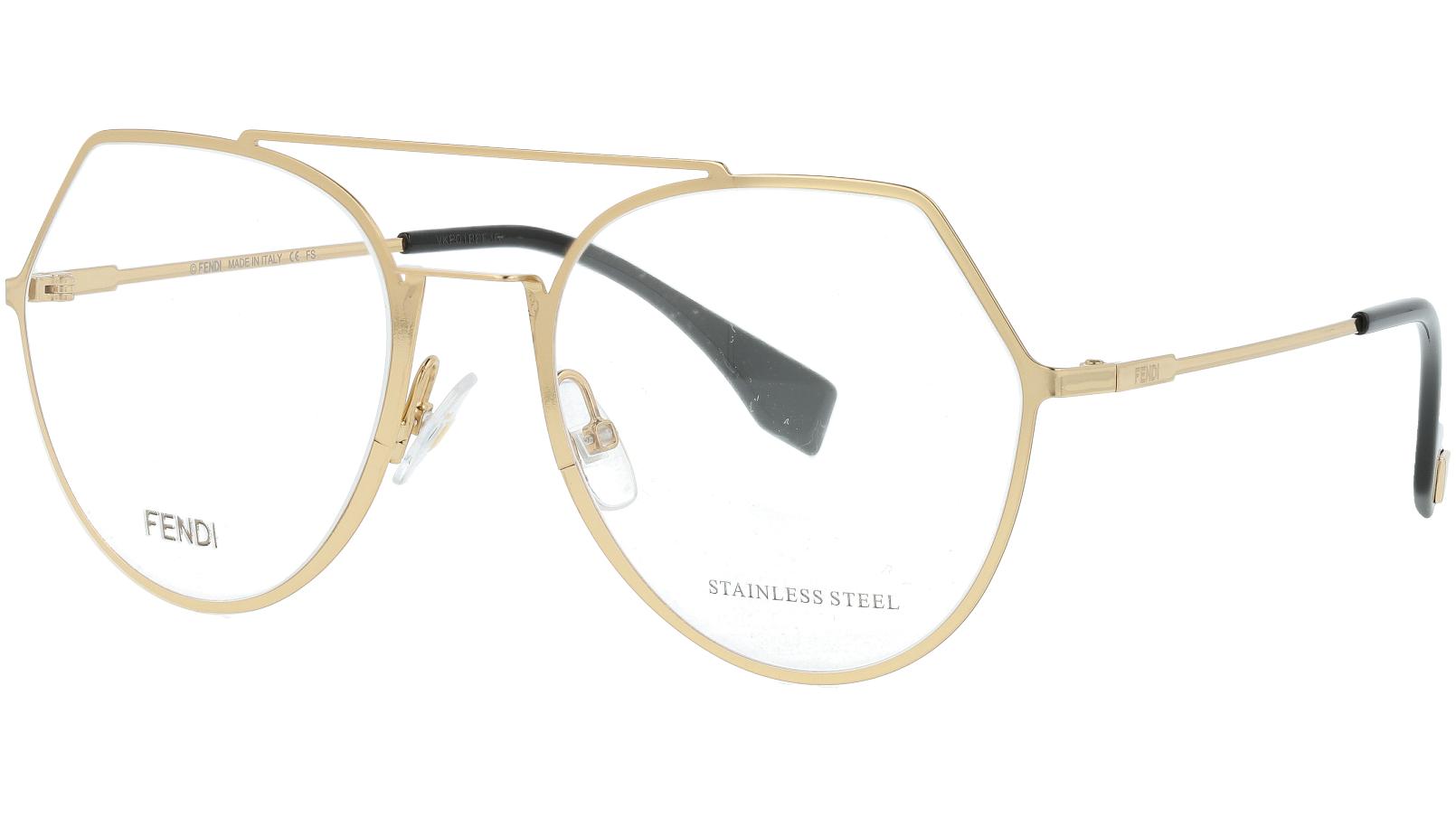 FENDI FF0329 J5G 53 GOLD Glasses