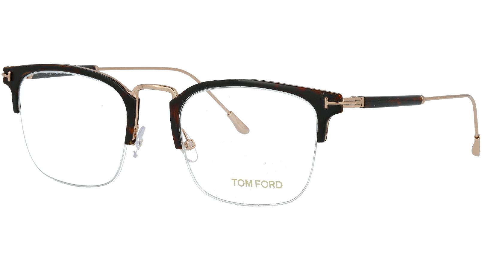 Tom Ford TF5611 052 52 Havana Titanium Glasses