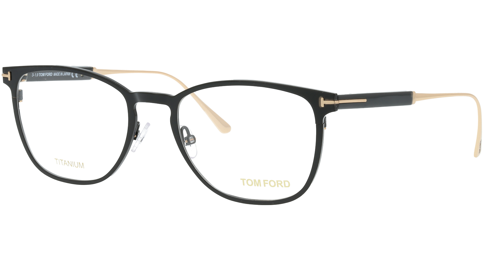Tom Ford TF5483 001 52 Black Titanium Glasses