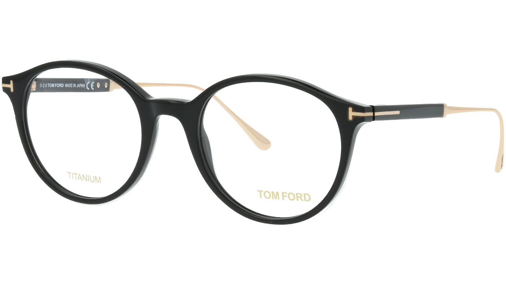 Tom Ford TF5485 001 51 Black Titanium Glasses