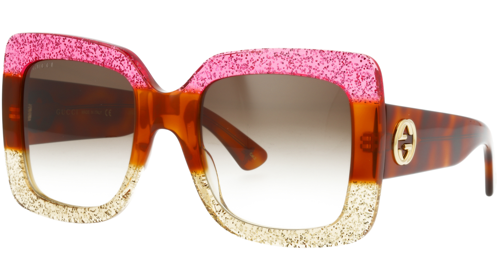 GUCCI GG0083S 001 53 RED Sunglasses