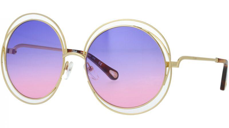 Chloé CE114SD 861 58 Gold Violet Round Sunglasses