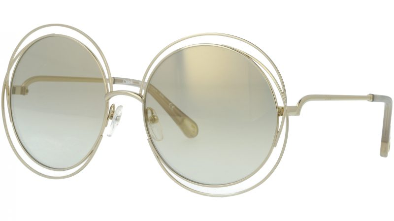 Chloé CE114SD 776 58 Gold Opaline Round Sunglasses