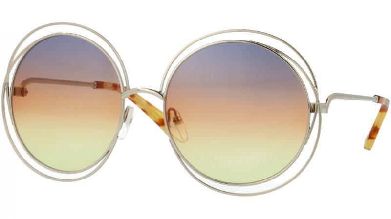 Chloé CE114SD 812 58 Gold Round Sunglasses