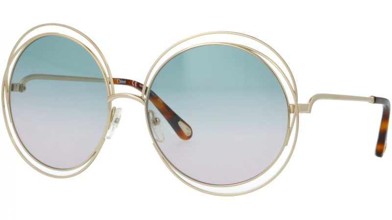 Chloé CE114SD 751 62 Gold Green-Pink Round Sunglasses