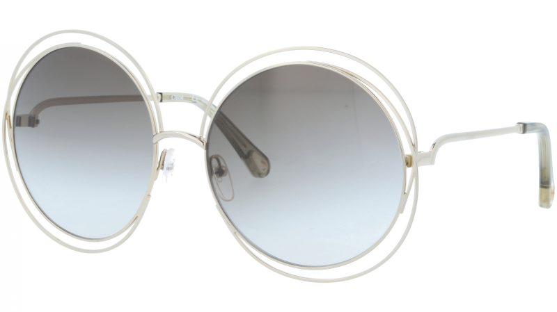 Chloé CE114SD 733 62 Gold/Transparent Grey Round Sunglasses