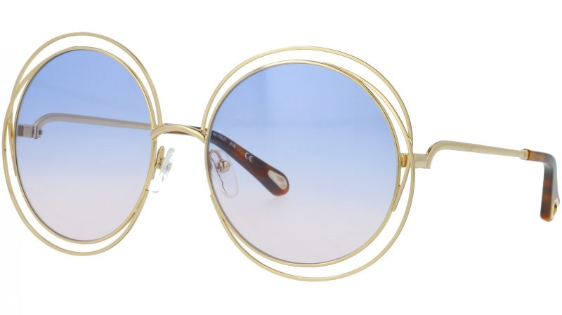 Chloé CE114SD 706 58 Gold Havana Round Sunglasses