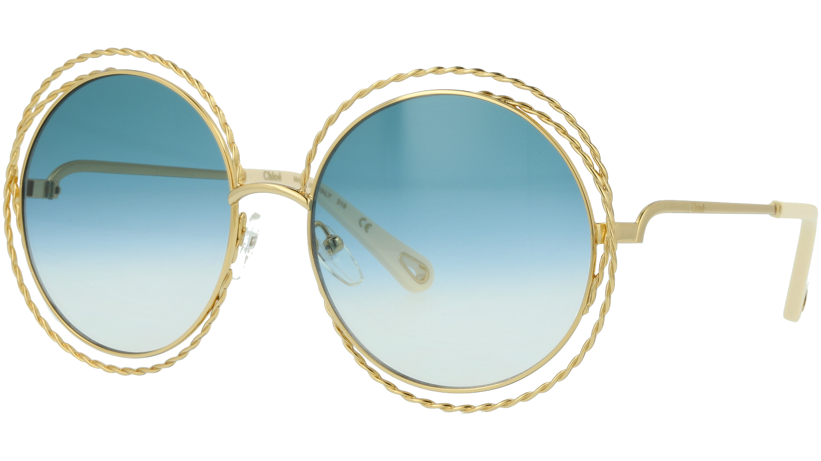 CHLOE CE114ST 871 58 Gold Gradient Carlina Round Sunglasses