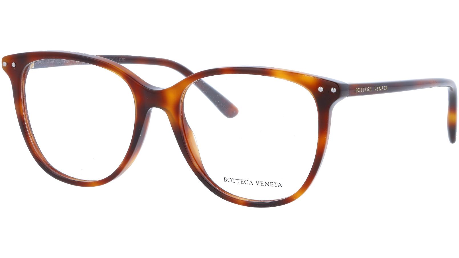 Alexander McQueen AM0161O 002 52 Avana Glasses