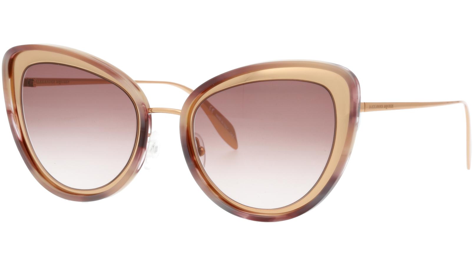 Alexander McQueen AM0177S 004 54 GOLD Sunglasses
