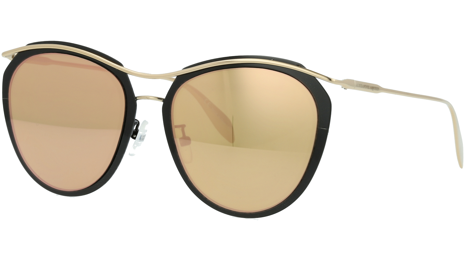 ALEXANDER MCQUEEN AM0128SK 003 56 BLACK Sunglasses