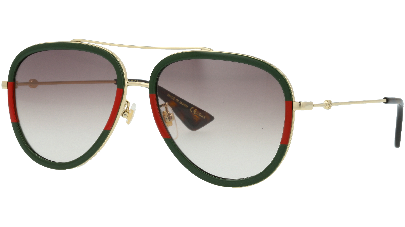 GUCCI GG0062S 005 57 GOLD Sunglasses