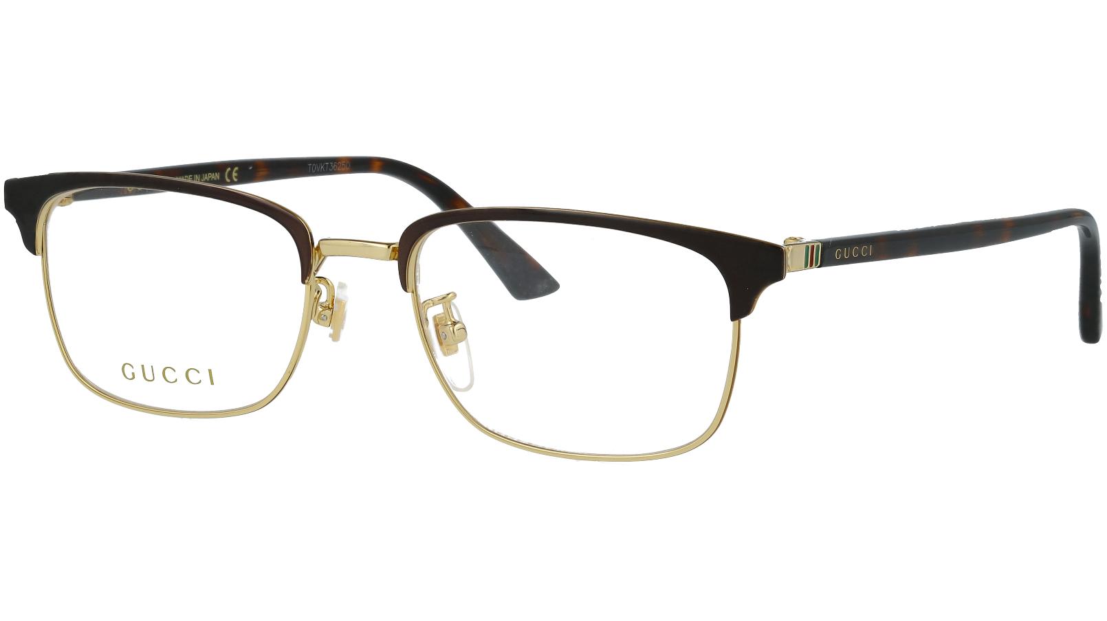 GUCCI GG0131O 002 53 BROWN Glasses