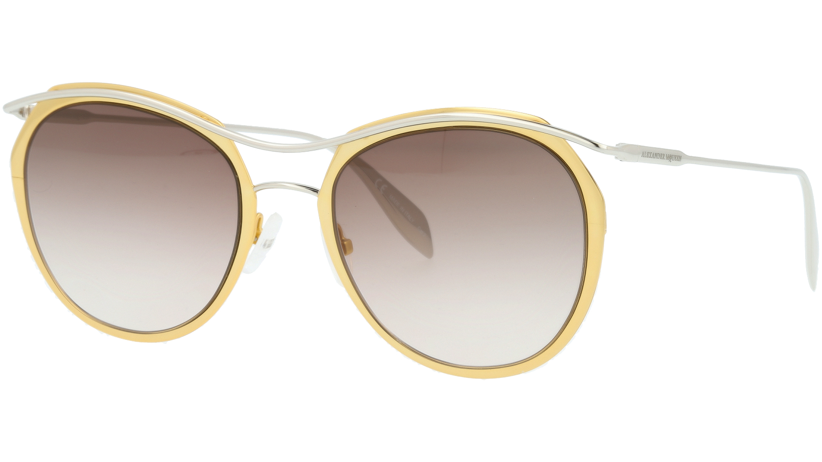 ALEXANDER MCQUEEN AM0116S 002 54 GOLD Sunglasses