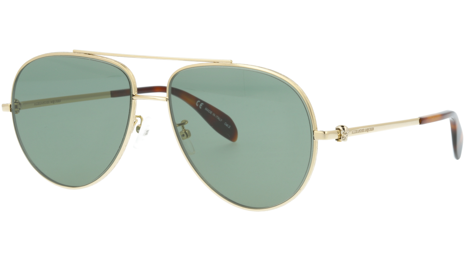 Alexander McQueen AM0172S 003 60 GOLD Sunglasses