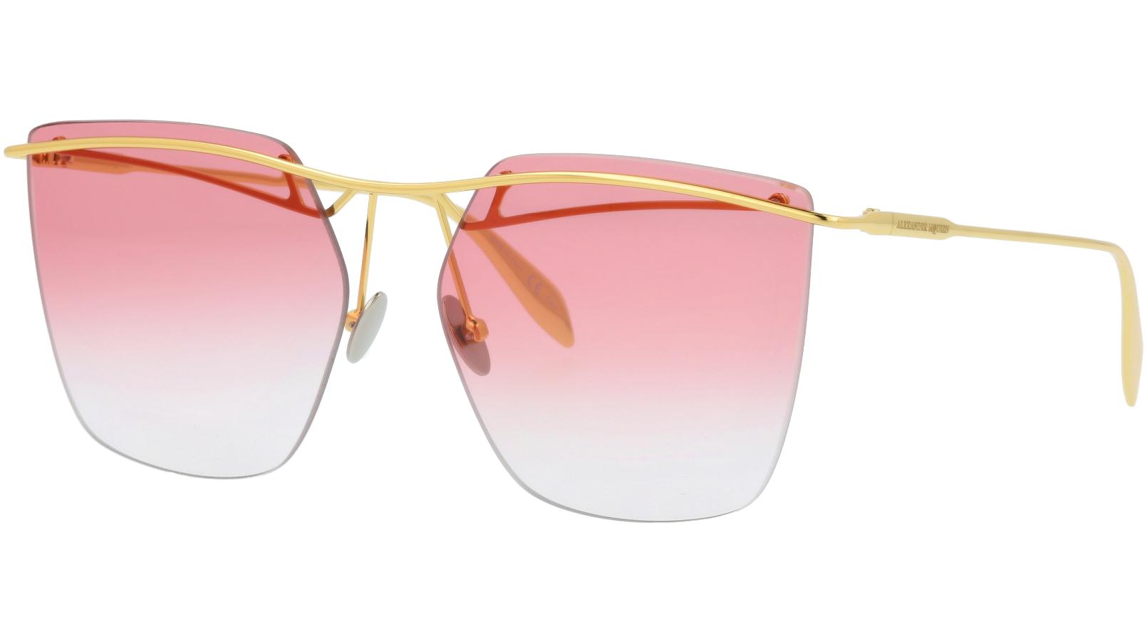 Alexander McQueen AM0144S 002 59 GOLD Sunglasses