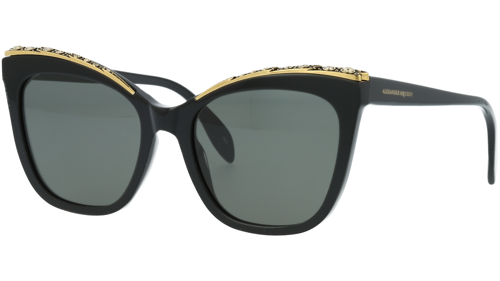 ALEXANDER MCQUEEN AM0182S 001 55 BLACK Sunglasses