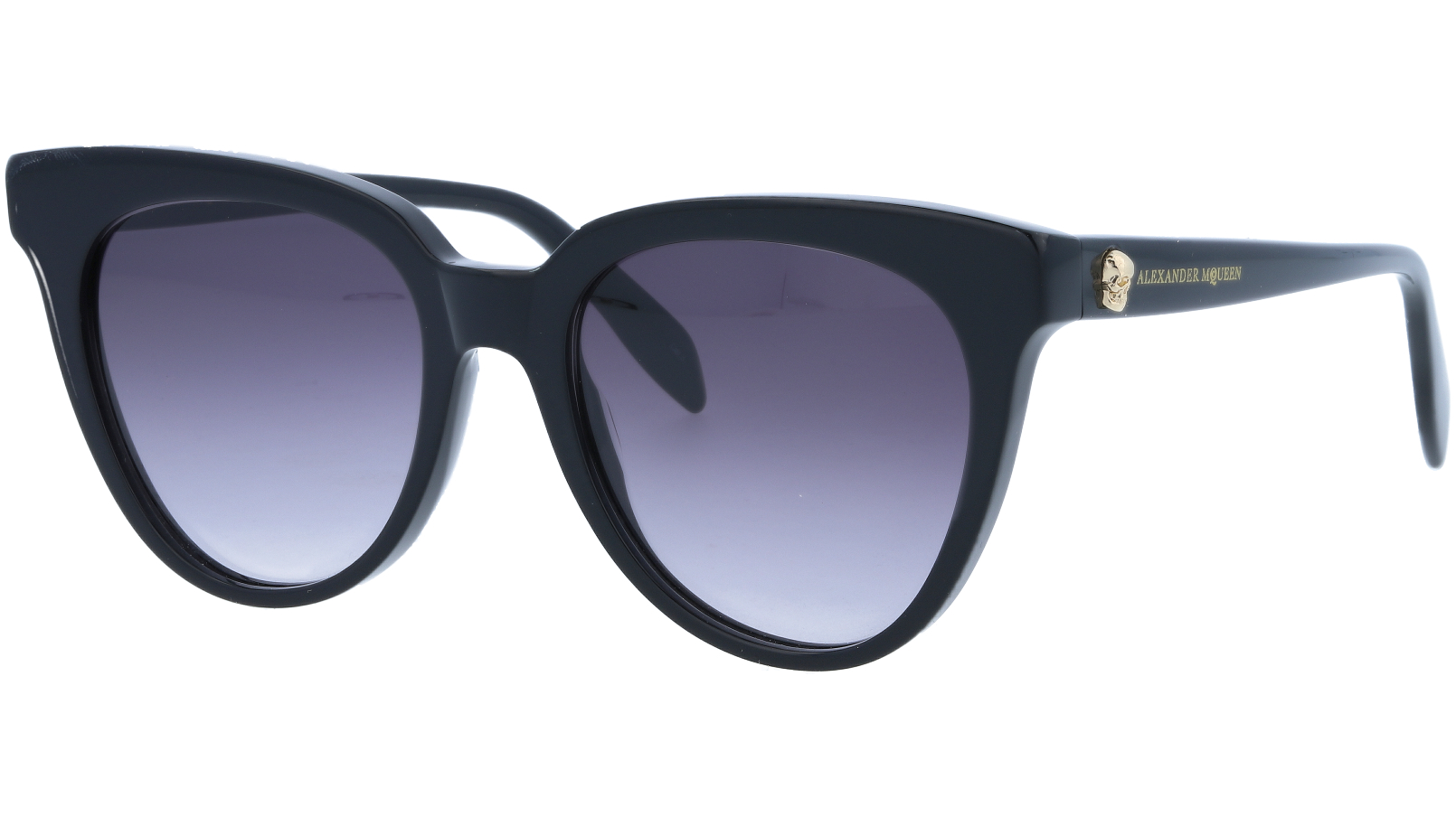 ALEXANDER MCQUEEN AM0159S 001 53 BLACK Sunglasses