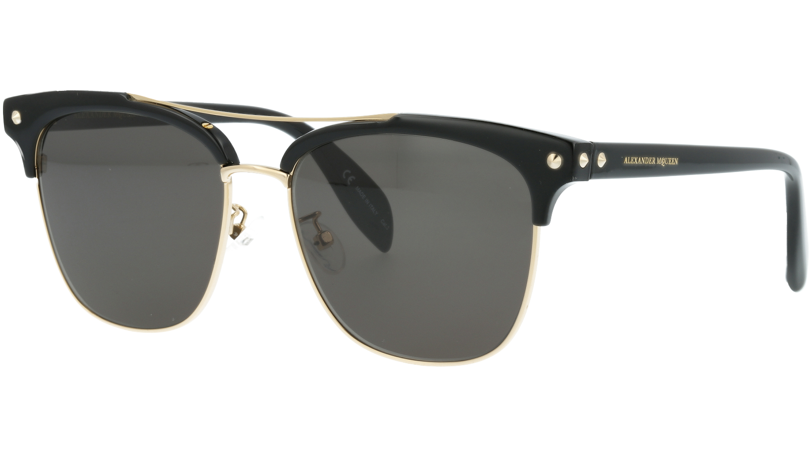 ALEXANDER MCQUEEN AM0126SK 001 57 BLACK Sunglasses