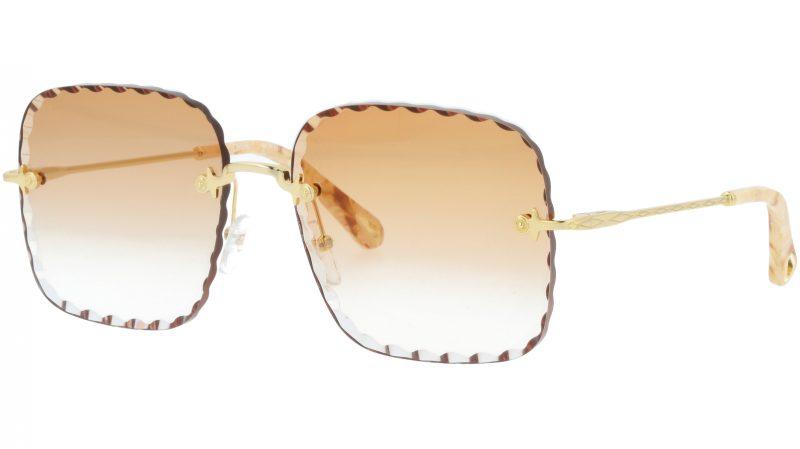 CHLOE Rosie CE161S 862 59 Gold Square Sunglasses
