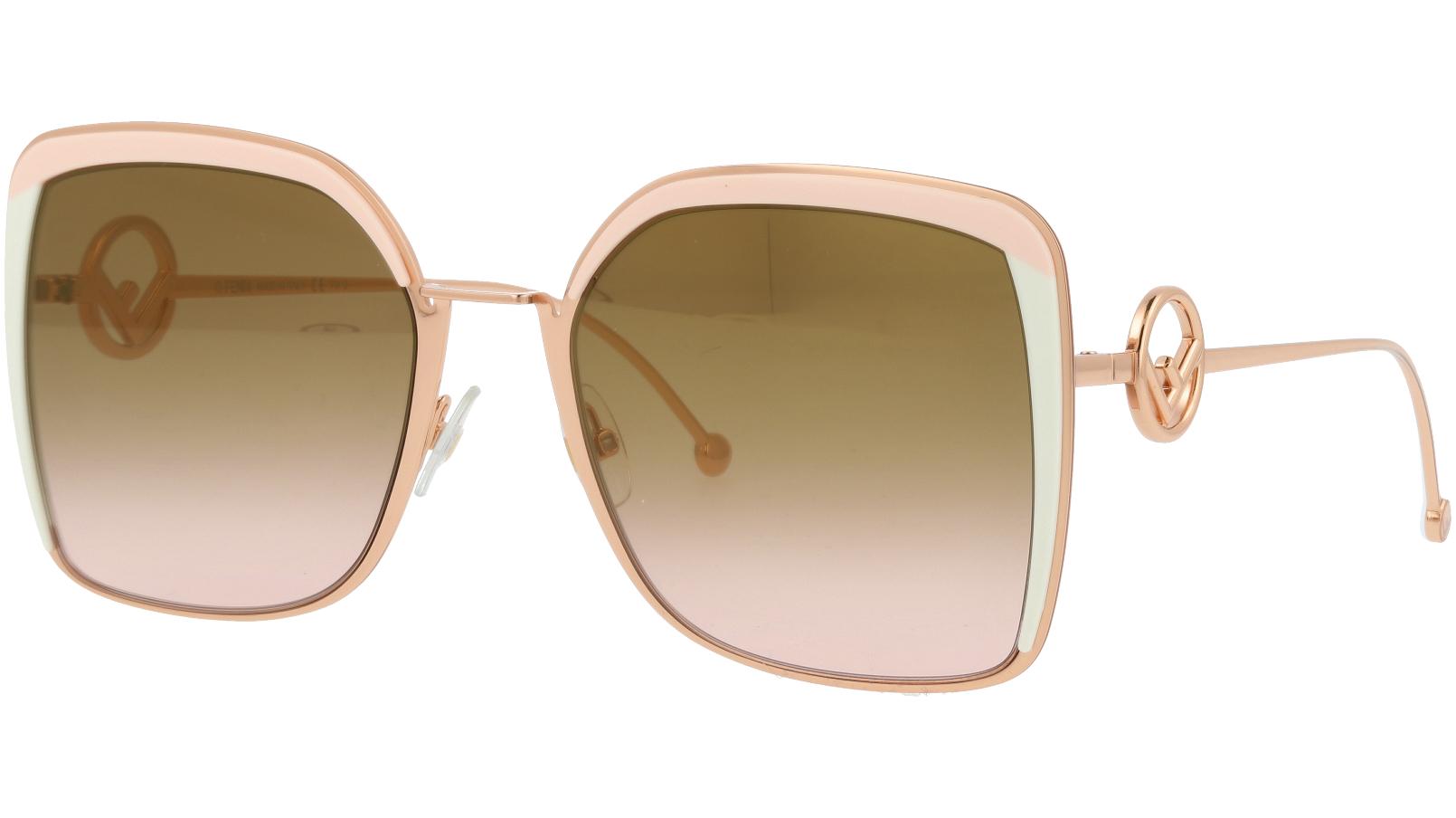 FENDI FF0294/S 35J53 58 Pink Square Sunglasses