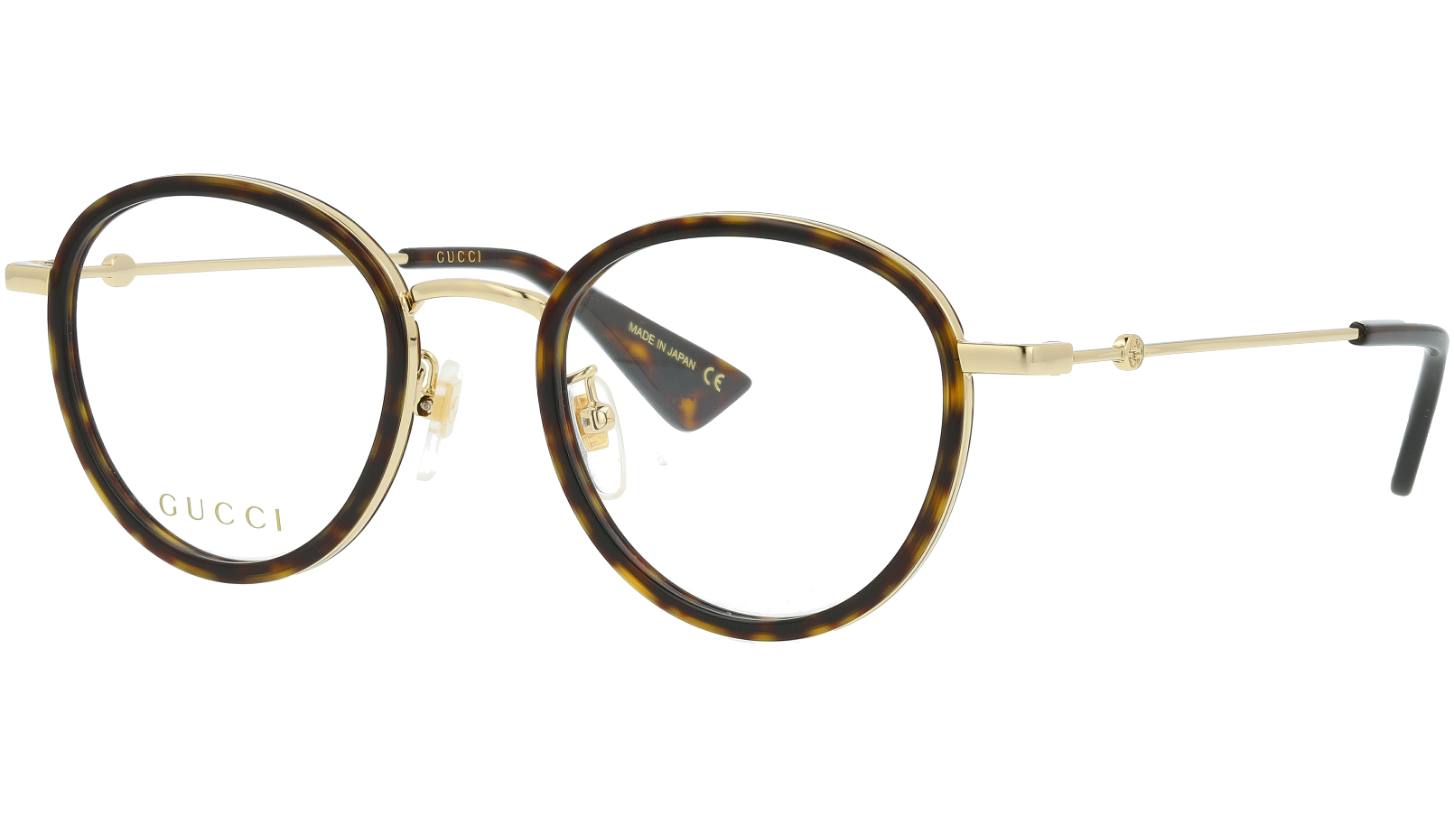 Gucci GG0608OK 003 49 Havana Round Glasses