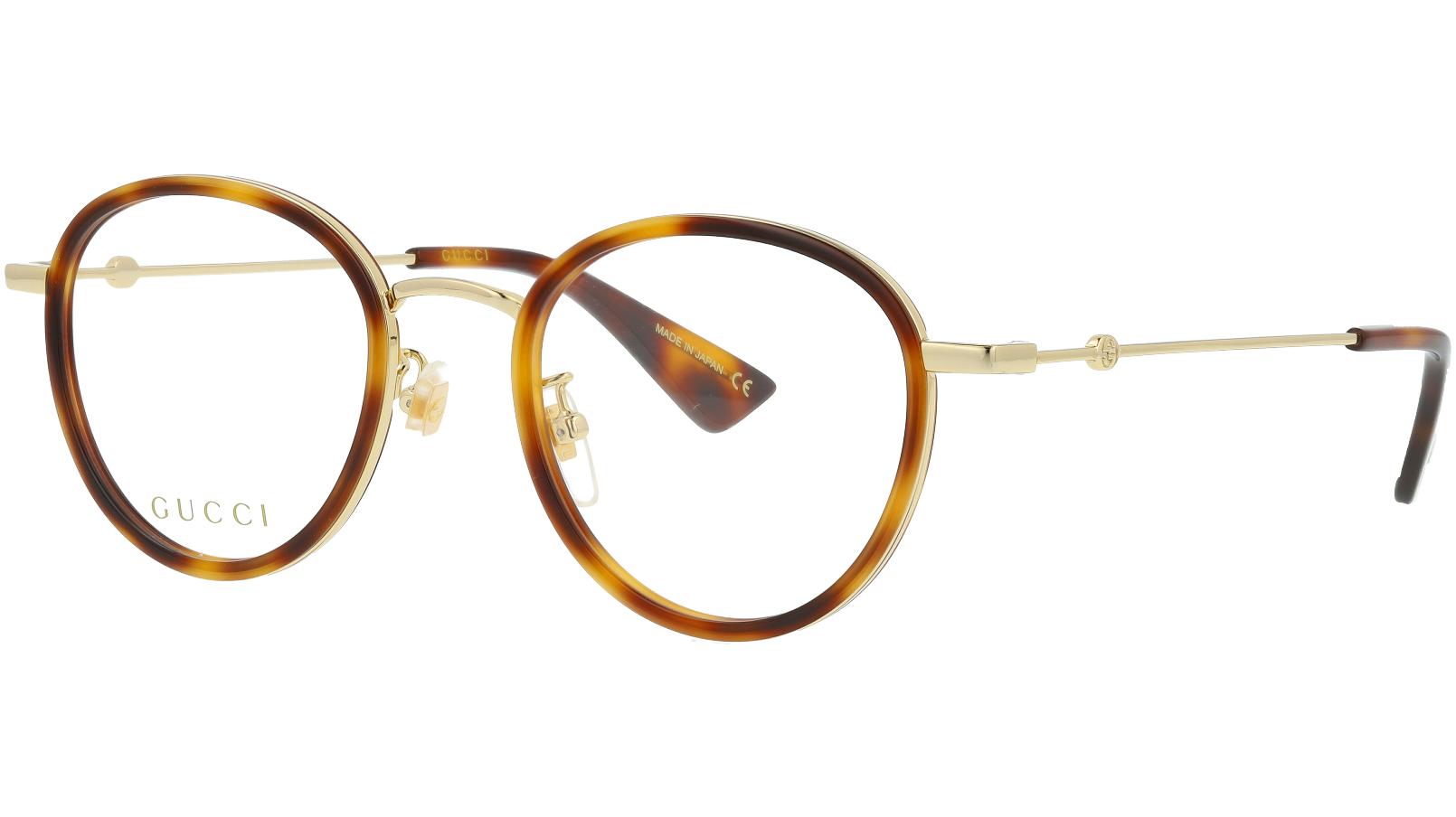 Gucci GG0608OK 004 49 Havana Round Glasses