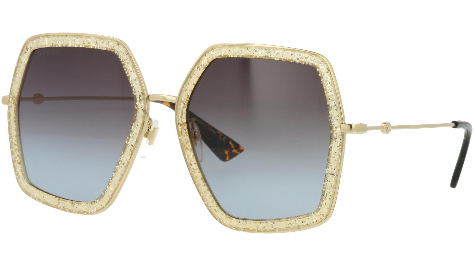 GUCCI GG0106S 005 56 GOLD Sunglasses