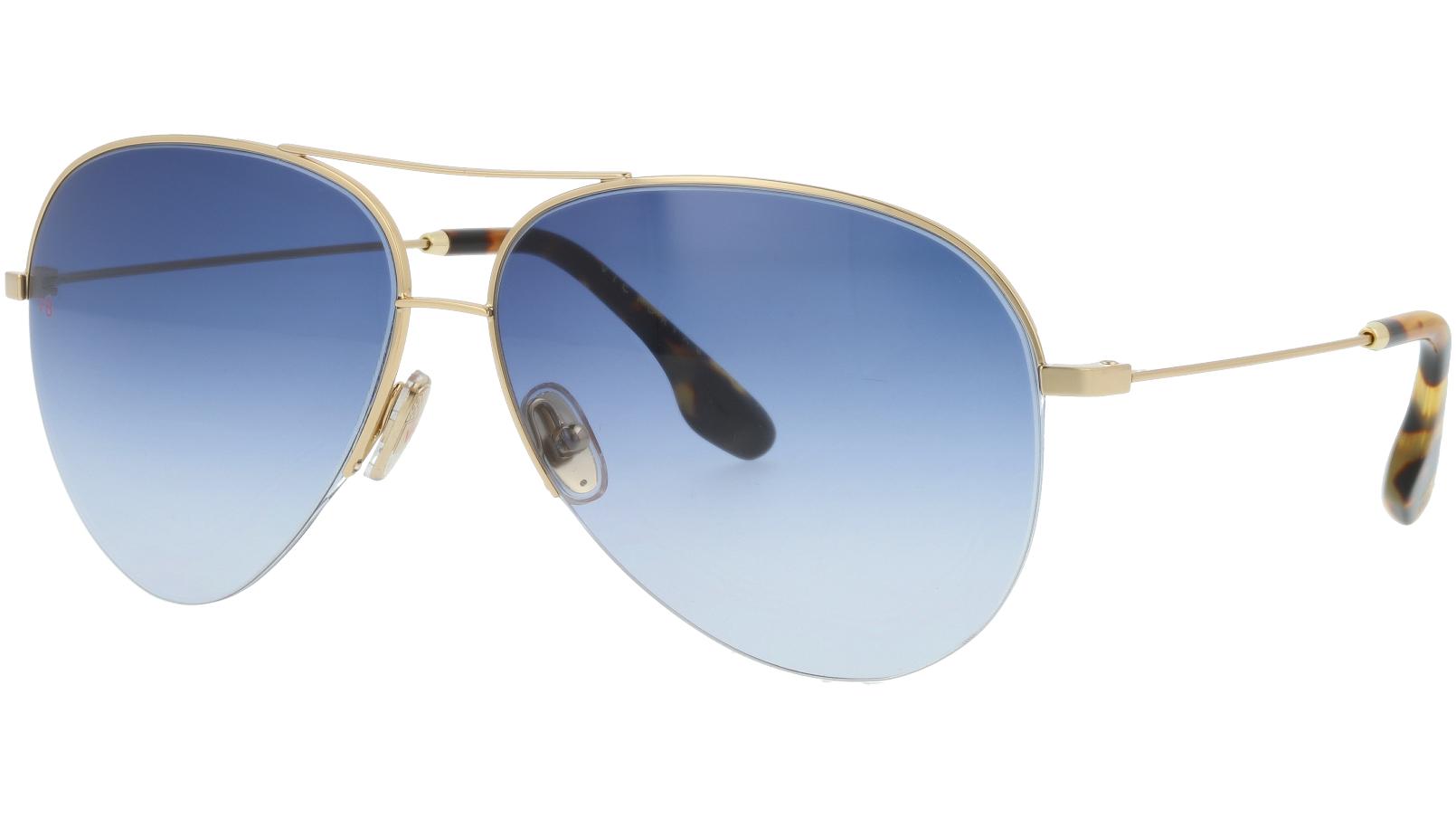 Victoria Beckham VB90S 720 62 Gold Sunglasses