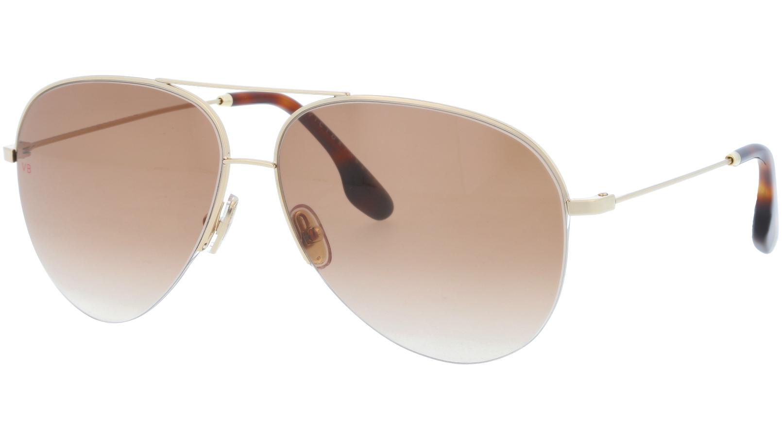 Victoria Beckham VB90S 702 62 Gold Sunglasses