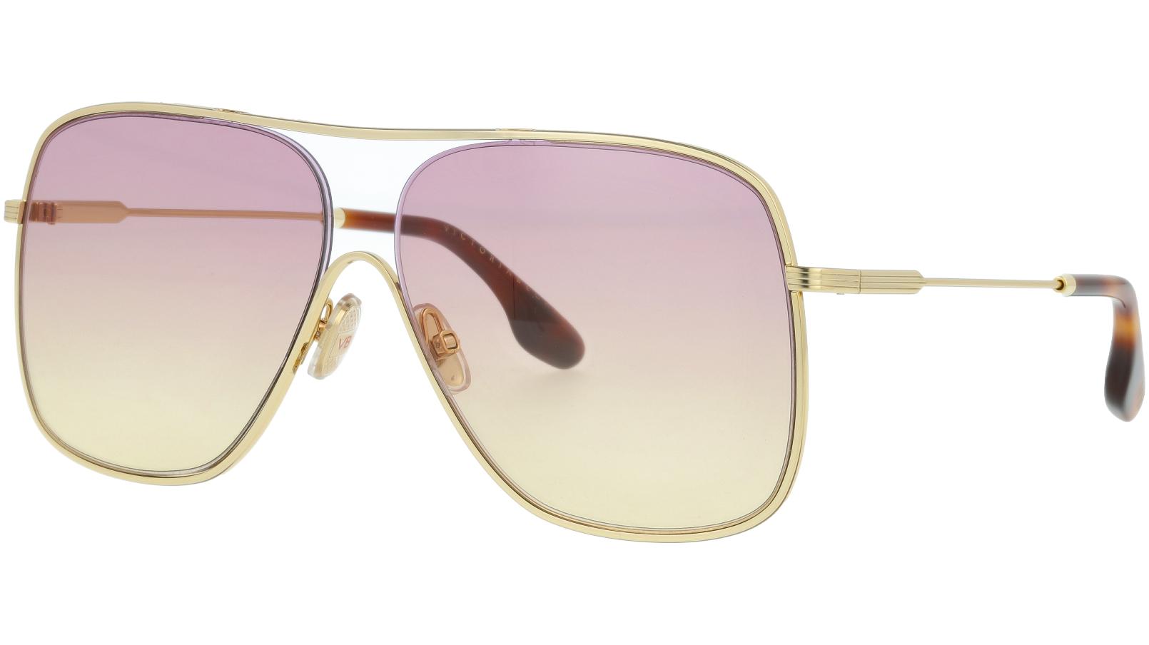 Victoria Beckham VB132S 707 61 Gold Sunglasses