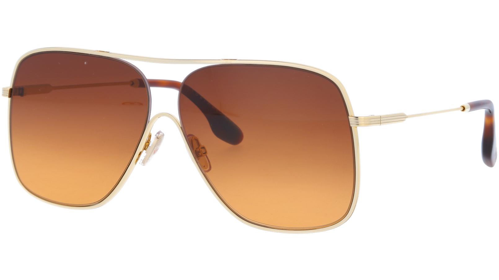 Victoria Beckham VB132S 708 61 Gold Sunglasses