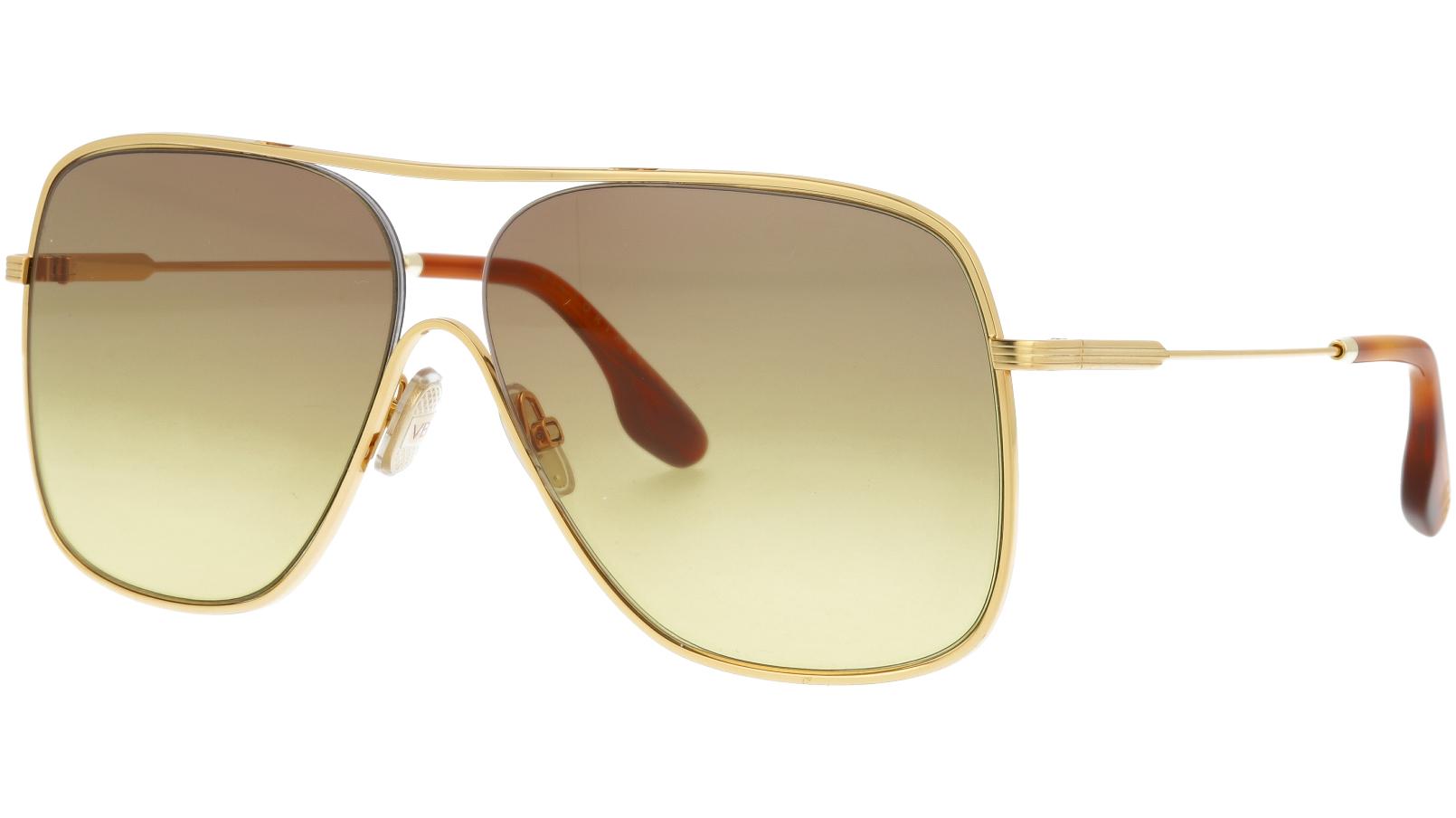 Victoria Beckham VB132S 709 61 Gold Sunglasses