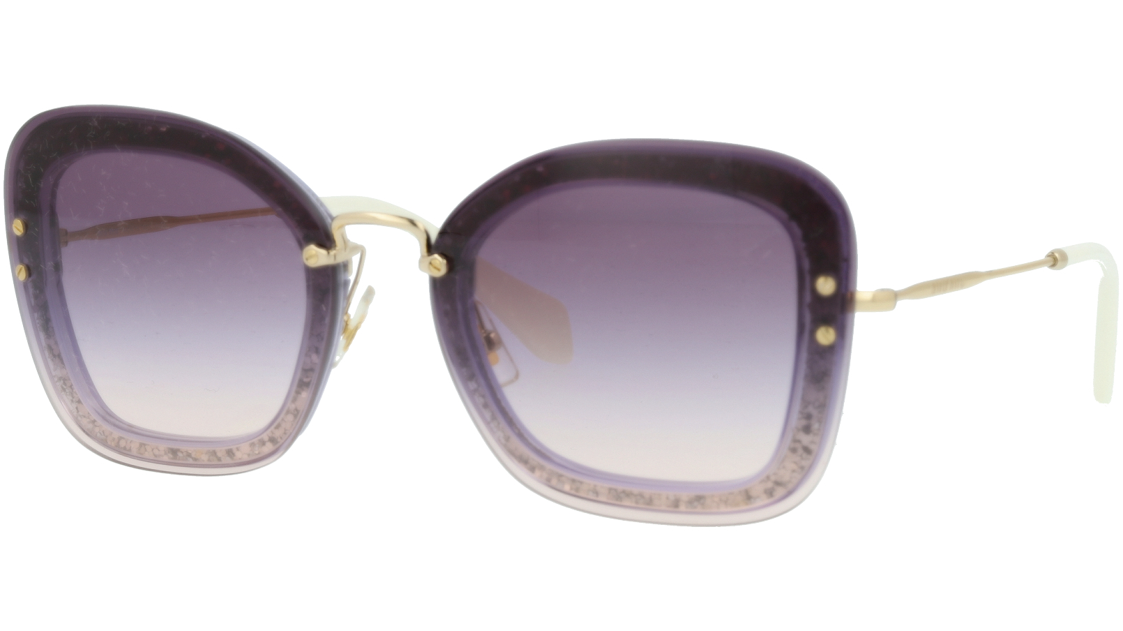 MIU MIU MU02TS 86LNJ0 65 Grey Cat-Eye Sunglasses