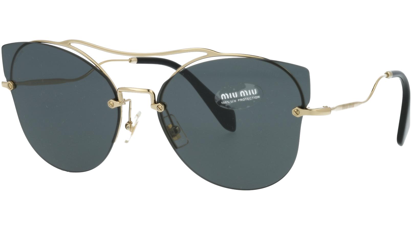 MIU MIU MU52SS ZVN1A1 62 Grey Gold Sunglasses